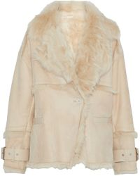 IRO - Zehner Leather-trimmed Shearling Jacket - Lyst