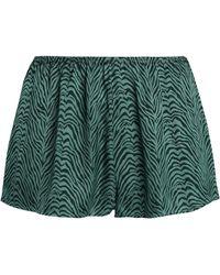 Love Stories - Zebra-print Sateen Pajama Shorts - Lyst