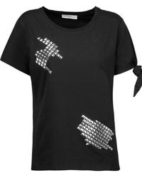 J.W.Anderson - Stud-embellished Knotted Cotton T-shirt - Lyst