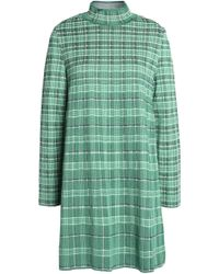M Missoni - Checked Woven Mini Dress - Lyst