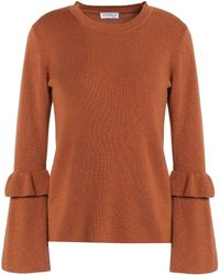 Claudie Pierlot - Ruffle-trimmed Wool And Cashmere-blend Jumper - Lyst