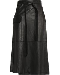 Alexis - Nita Leather Wrap Skirt - Lyst