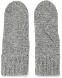 Iris & Ink - Jeanne Mélange Wool And Cashmere-blend Mittens - Lyst