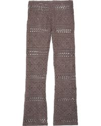 Eberjey - Beach Comber Marley Crocheted Cotton Wide-leg Trousers - Lyst