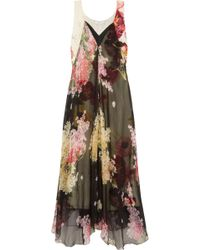 Lanvin - Floral-print Silk-chiffon And Crepe De Chine Gown - Lyst