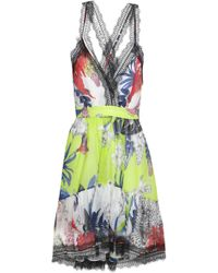 Just Cavalli - Woman Lace-trimmed Floral-print Silk-organza Dress  Multicolour - 84fc6e71c