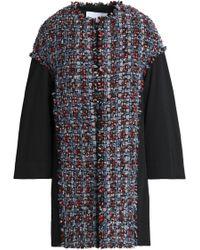 Sonia Rykiel - Bouclé-tweed And Cotton-twill Coat - Lyst