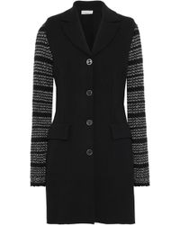 Sonia Rykiel - Two-tone Knitted-paneled Ponte Jacket - Lyst