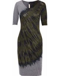 Raquel Allegra - Tie-dyed Cotton-blend Jersey Dress - Lyst