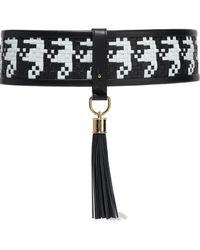 Balmain - Tasseled Two-tone Woven Leather Belt - Lyst