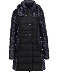 Duvetica - Callipatira Quilted Paneled Shell And Twill Hooded Down Coat Midnight Blue - Lyst