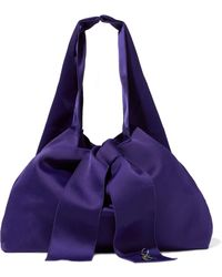 3.1 Phillip Lim - Knotted Embellished Satin Tote - Lyst