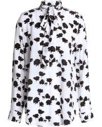 ebac3bd4c8579b Equipment - Carleen Pussy-bow Floral-print Silk Crepe De Chine Blouse - Lyst