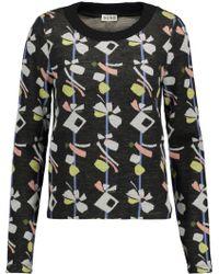 SUNO - Jacquard-knit Wool-blend Sweater - Lyst
