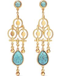Ben-Amun - Woman 24-karat Gold-plated Stone Earring Gold - Lyst