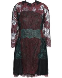 Valentino - Cape-back Silk Chantilly Lace Mini Dress - Lyst
