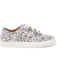 Carven - Resonance Printed Patent-leather Trainers - Lyst
