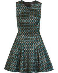 Dolce & Gabbana - Metallic Jacquard Mini Dress - Lyst
