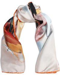 Valentino - Printed Silk Scarf - Lyst