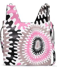 Emilio Pucci - Woman Zip-detailed Printed Leather Tote Pink - Lyst