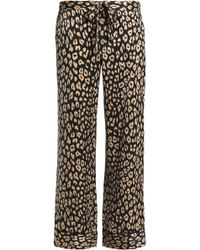 Equipment - Leopard-print Silk Crepe De Chine Pyjama Trousers - Lyst