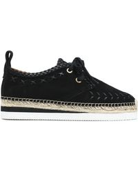 See By Chloé - Leather-trimmed Suede Epsadrille Trainers - Lyst