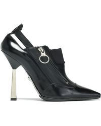 Versace - Cutout Leather Court Shoes - Lyst