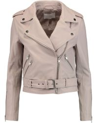 W118 by Walter Baker - Allison Leather Biker Jacket - Lyst