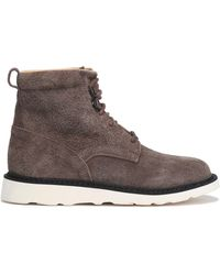 Helmut Lang - Lace-up Suede Ankle Boots Dark Brown - Lyst