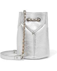 Jérôme Dreyfuss - Popeye Mini Metallic Textured-leather Bucket Bag - Lyst