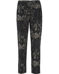 Mikoh Swimwear - Leopard-print Silk-crepe Tapered Trousers - Lyst