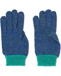 Missoni - Woman Metallic Crochet-knit Gloves Cobalt Blue - Lyst