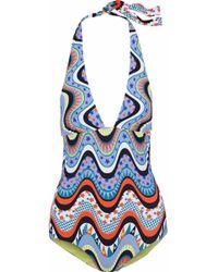 M Missoni - Printed Swimsuit - Lyst