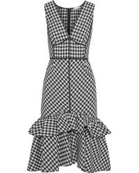 TOME - Gingham Sleeveless Ruffle Dress - Lyst