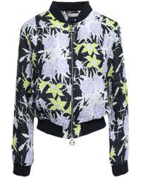 Nina Ricci - Woman Floral-print Silk-blend Cloqué Bomber Jacket Multicolour - Lyst