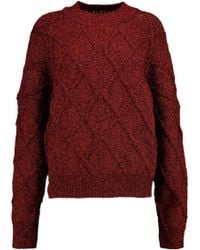 Isabel Marant - Metallic Cable-knit Sweater - Lyst