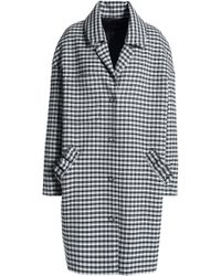 Mother Of Pearl - Ruffle-trimmed Checked Twill Coat - Lyst