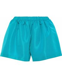 RED Valentino - Gathered Satin-faille Shorts - Lyst