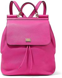 Dolce & Gabbana - Sicily Pebbled-leather Backpack - Lyst