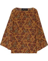 Vanessa Seward - Baudelaire Printed Silk Top - Lyst