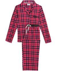 DKNY - Printed Fleece Pyjama Set - Lyst