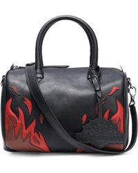 Just Cavalli - Embroidered Leather Shoulder Bag - Lyst