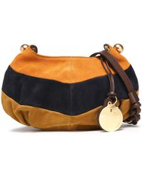 See By Chloé - Leather-trimmed Color-block Suede Shoulder Bag - Lyst