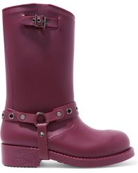 RED Valentino - Embellished Rubber Rain Boots - Lyst