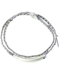 Chan Luu - Sterling Silver, Bead And Cord Bracelet - Lyst