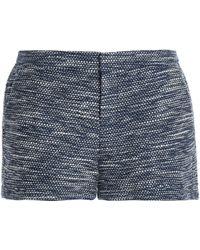 Joie - Cotton-blend Bouclé-tweed Shorts - Lyst