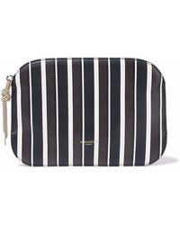 Nina Ricci - Elide Striped Textured-leather Pouch - Lyst