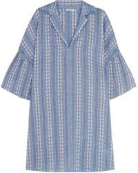Splendid | Embroidered Cotton-jacquard Mini Dress | Lyst