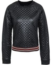 Koral - Woman Coated Quilted Jersey Sweatshirt Black - Lyst