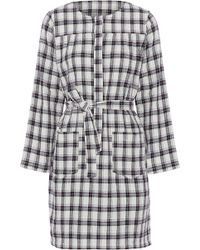 A.P.C. - Checked Cotton-blend Mini Dress - Lyst